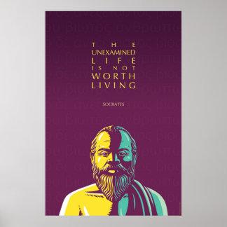 Het citaat van Socrates: Het unexamined leven Poster