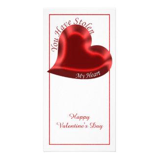 """Het Citaat van Valentijn, heeft """"u Mijn Hart """" Fotokaart"""