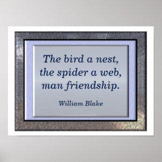 Het citaat van William Blake - kunstdruk Poster