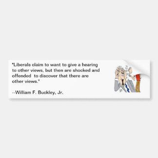 Het citaat van William F Buckley over liberalen Bumpersticker