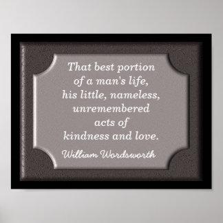 Het citaat van Wordsworth - druk Poster