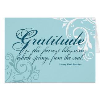 Het Citaat www.sobercards.com van de dankbaarheid Kaart