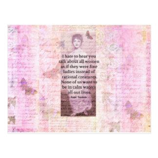 Het citaatempowerment van Jane Austen Inspirerend Briefkaart