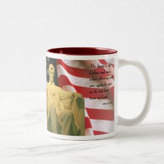 Het citaatmok van Abraham Lincoln Tweekleurige Koffiemok