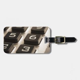 "Het ""close-up van de calculator "" kofferlabels"