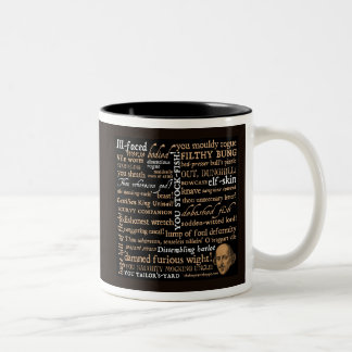 Het Collectie van de Beledigingen van Shakespeare Tweekleurige Koffiemok