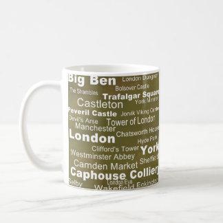Het Collectie van de bestemming: Engeland Koffiemok