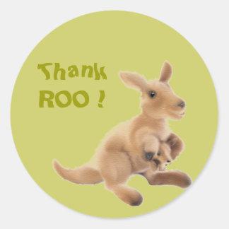 Het Collectie van de kangoeroe Ronde Sticker