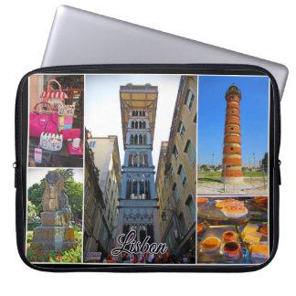 Het Collectie van de Reis van Lissabon - de Lift Laptop Sleeve