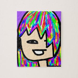 het collectie van het hippiemeisje puzzel
