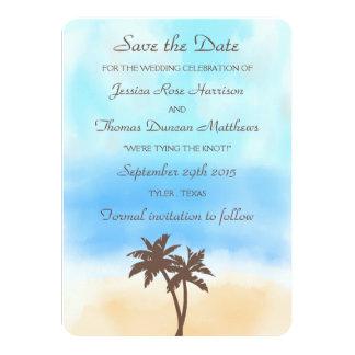 Het collectie van het Huwelijk van het Strand van 11,4x15,9 Uitnodiging Kaart