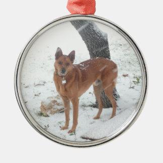 Het Collectie van Kerstmis voegt de Foto van het Zilverkleurig Rond Ornament