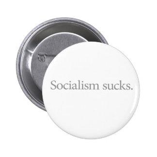 Het collectivisme zuigt (Stil) Ronde Button 5,7 Cm