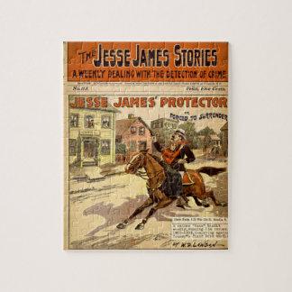 Het Comic van Jesse Boek van James Outlaw Bank Puzzel