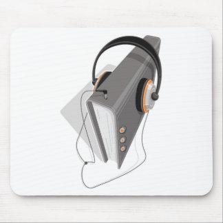 Het Concept van Audiobook Muismat