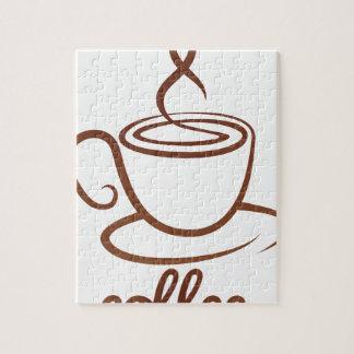Het Concept van de Kop van Coffe Foto Puzzels