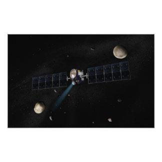 Het concept van de kunstenaar het ruimtevaartuig foto