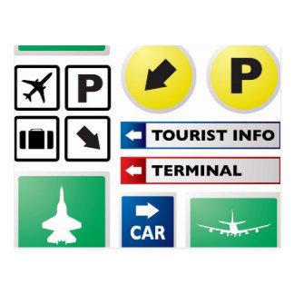 Het concept van de luchthaven briefkaart