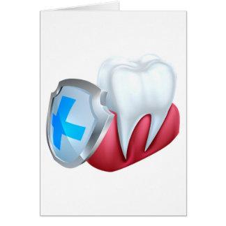 Het Concept van het Schild van de Gom van de tand Wenskaart