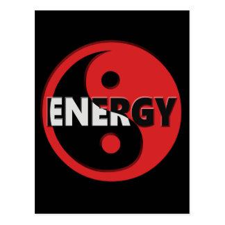 Het concept van Yin en yang van de energie Briefkaart