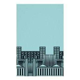 Het Concrete Oerwoud van het blauwgroen Cityscape Briefpapier