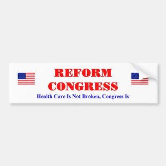 Het Congres van de hervorming Bumpersticker