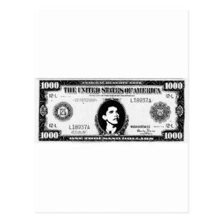 Het Contante geld van Obama Briefkaart