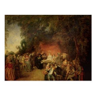 Het contract van het Huwelijk, c.1712-13 Briefkaart