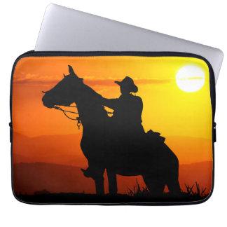 Het cowboy-cowboy-zonneschijn-western-land van de computer sleeve