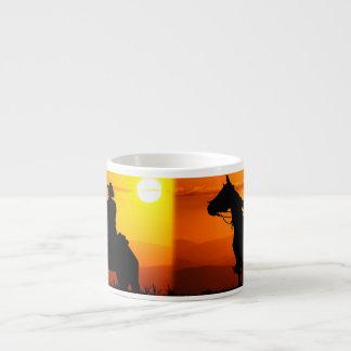 Het cowboy-cowboy-zonneschijn-western-land van de espresso kop