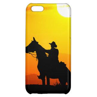 Het cowboy-cowboy-zonneschijn-western-land van de hoesje voor iPhone 5C