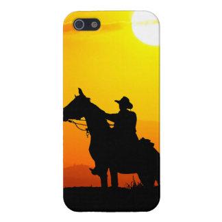 Het cowboy-cowboy-zonneschijn-western-land van de iPhone 5 cases
