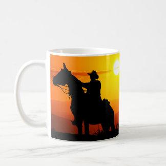 Het cowboy-cowboy-zonneschijn-western-land van de koffiemok