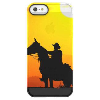 Het cowboy-cowboy-zonneschijn-western-land van de permafrost iPhone SE/5/5s hoesje