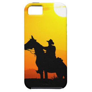 Het cowboy-cowboy-zonneschijn-western-land van de tough iPhone 5 hoesje