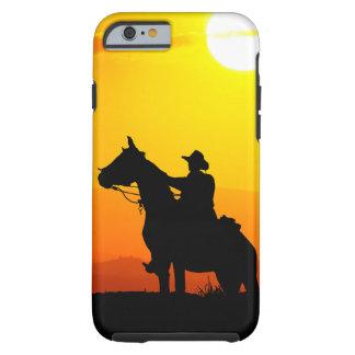 Het cowboy-cowboy-zonneschijn-western-land van de tough iPhone 6 hoesje