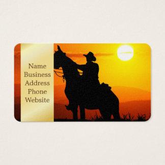 Het cowboy-cowboy-zonneschijn-western-land van de visitekaartjes