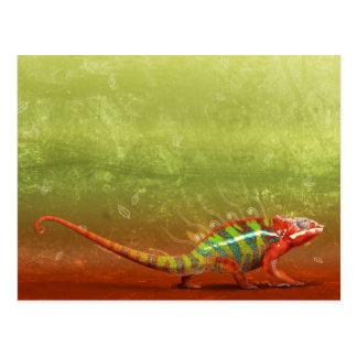 Het creatieve Art. van het Kameleon Briefkaart