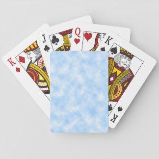 Het Creëere Blauwe & Witte Ontwerp van Wolken Speelkaarten