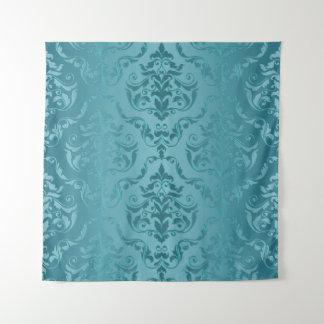 Het cyaan Blauwgroene Vintage Tapijtwerk van de Wandkleed