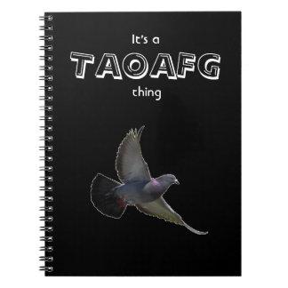 Het Dagboek van de taoafg- Duif Notitieboek