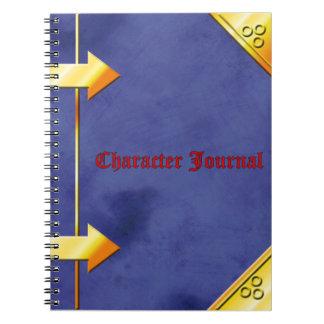 Het Dagboek van het karakter Ringband Notitie Boeken
