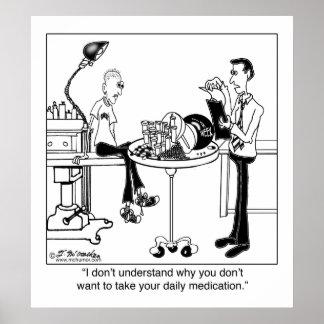 Het dagelijkse Medicijn is Grootte van een Bal van Poster