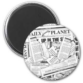 Het dagelijkse Patroon van de Planeet - Wit Ronde Magneet 5,7 Cm