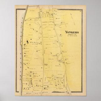 Het Dal van de rivier en de Kaart van de Atlas van Poster