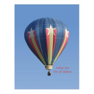 Het dalende Briefkaart van de Ballon van de Hete L Wens Kaarten