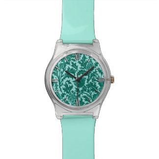 Het Damast, het Turkoois en Aqua van de Distel van Horloge
