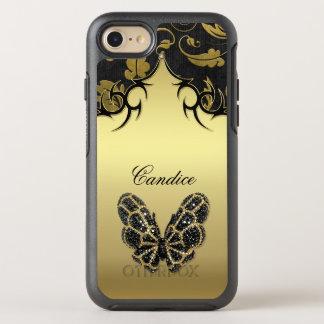 Het Damast van de Vlinder van Jeweled OtterBox Symmetry iPhone 8/7 Hoesje