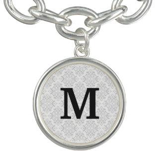 Het Damast van het monogram Armbanden