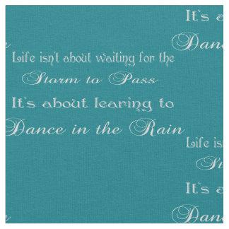 Het dansen in het Citaat van de Regen op Om het Stof